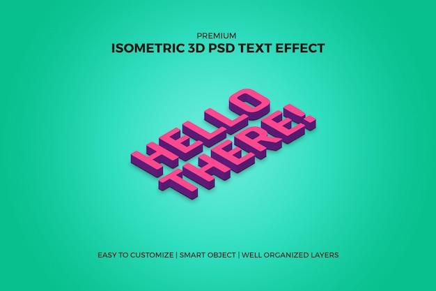 Efecto de texto isométrico 3d PSD Premium