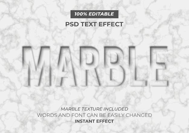 Efecto de texto de mármol PSD gratuito