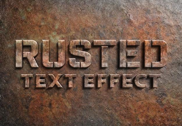 Efecto de texto de metal oxidado PSD Premium