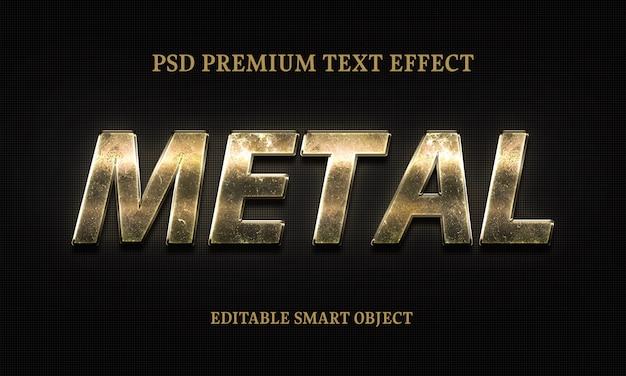 Efecto de texto de metal retrato de mujer hermosa PSD Premium