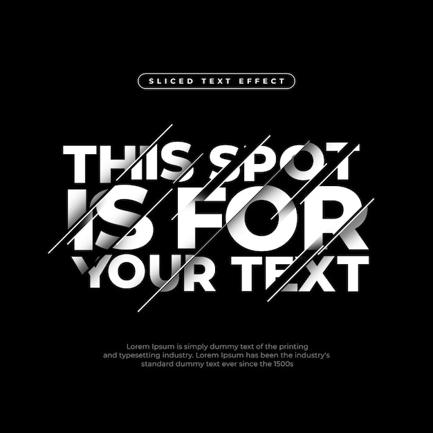 Efecto de texto en rebanado moderno dinámico PSD gratuito