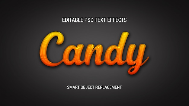 Efectos de texto que gotean brillantes PSD Premium