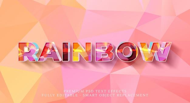 Effetto arcobaleno Psd Premium