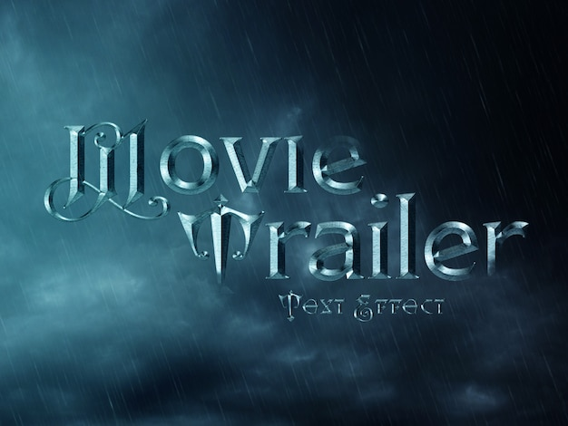 Effetto cinematografico wizard text Psd Premium