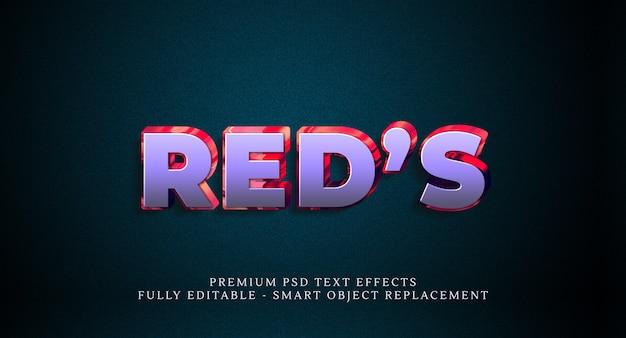 Effetto di stile del testo di red Psd Premium
