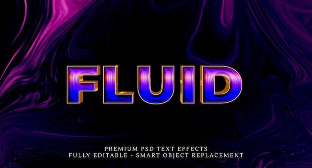 Effetto di stile di testo fluido psd, effetti di testo psd Psd Premium