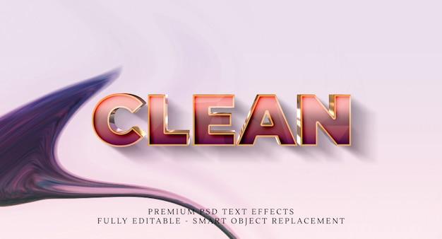 Effetto di stile testo pulito Psd Premium