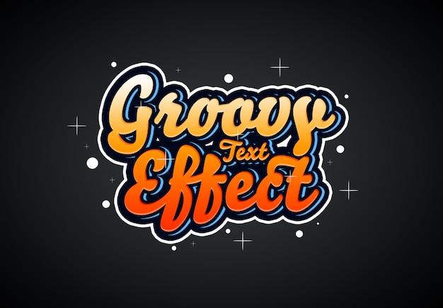 Effetto di testo groovy Psd Premium
