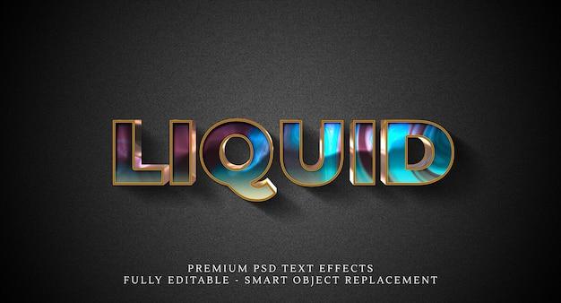 Effetto di testo in stile liquido psd, effetti di testo psd premium Psd Premium