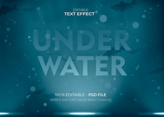 Effetto di testo lettering subacqueo Psd Gratuite
