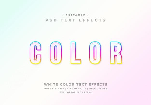 Effetto di testo modificabile in colore bianco Psd Premium