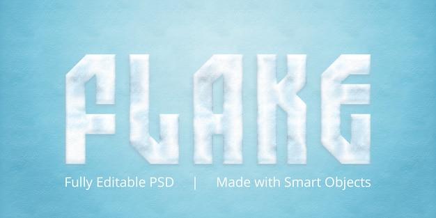 Effetto stile fiocco testo Psd Premium