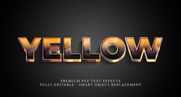 Effetto stile giallo, effetti di testo premium Psd Premium