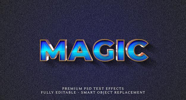 Effetto stile magico, effetti di testo Psd Premium