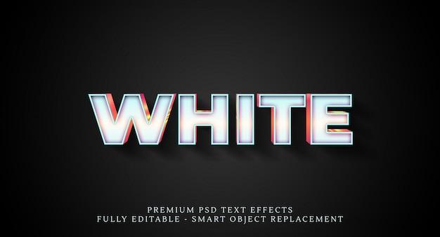 Effetto stile testo bianco psd, effetti testo psd Psd Premium