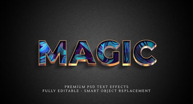 Effetto stile testo magico psd, effetti testo psd Psd Premium