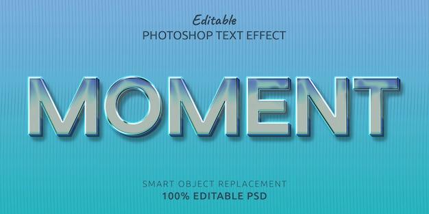 Effetto stile testo modificabile di momento Psd Premium
