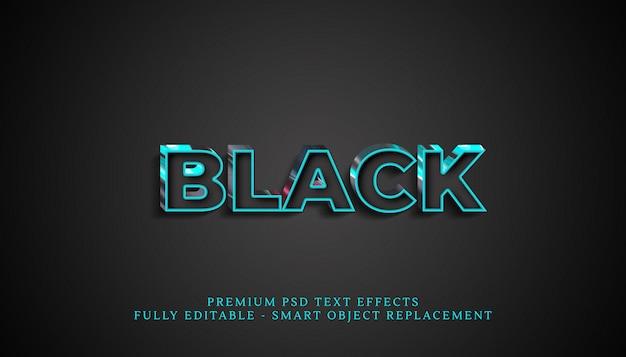 Effetto stile testo nero, effetti di testo premium Psd Premium