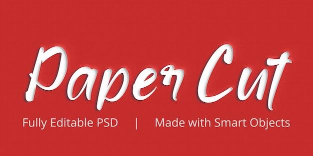 Effetto stile testo taglio carta Psd Premium