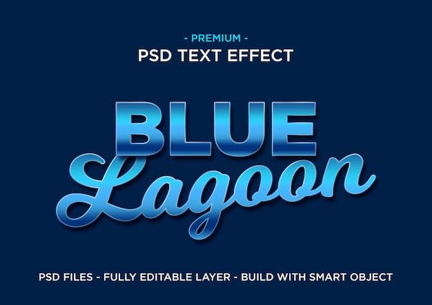 Effetto testo blu premium Psd Premium