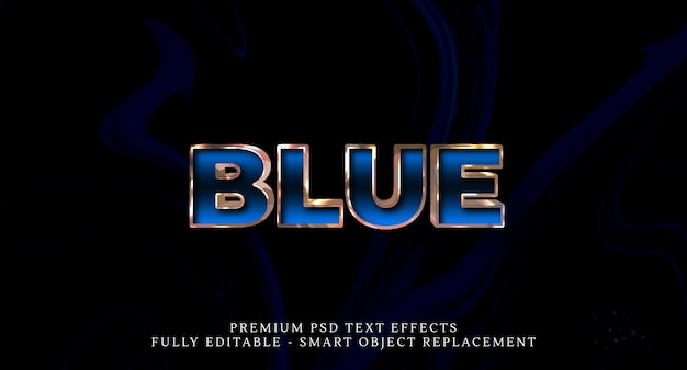 Effetto testo blu stile psd, effetti testo psd Psd Premium