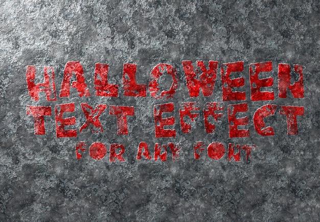 Effetto testo di halloween mockup Psd Premium
