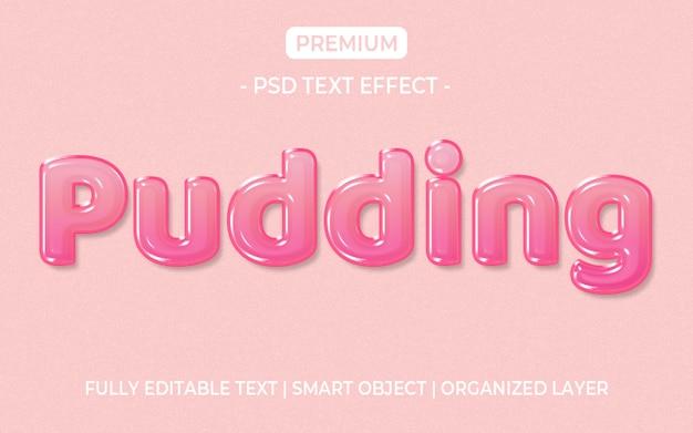 Effetto testo gelatina rosa Psd Premium