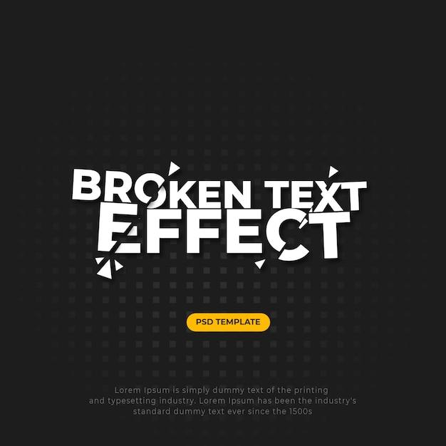 Effetto testo incrociato rotto Psd Premium