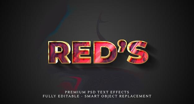 Effetto testo rosso stile psd, effetti testo psd Psd Premium
