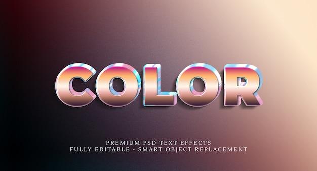 Effetto testo stile colore psd Psd Premium