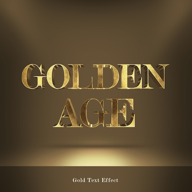 Effetto testo stile font caratteri d'oro Psd Premium