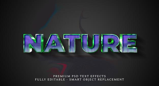 Effetto testo stile natura psd Psd Premium