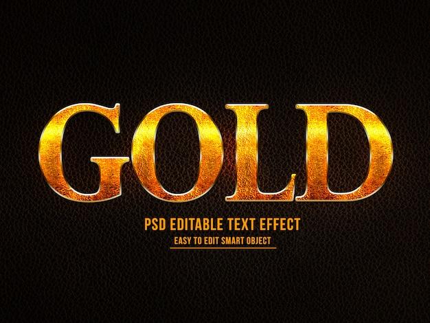 Effetto testo stile oro Psd Premium