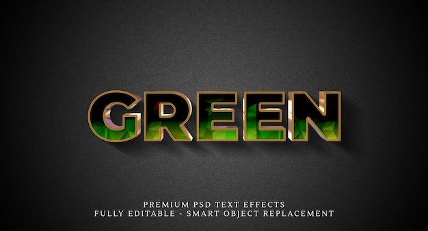 Effetto testo verde stile psd Psd Premium
