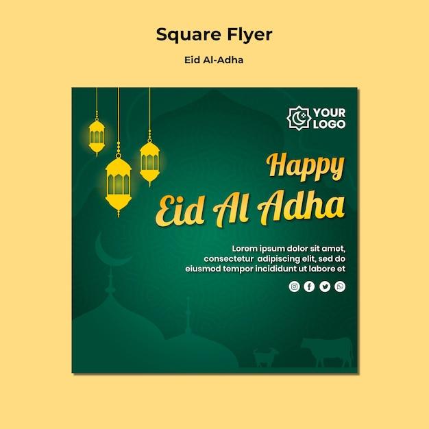 Eid al adha flyer-thema Gratis Psd