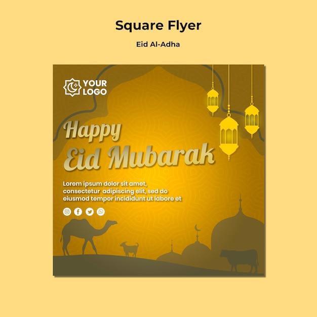 Eid al adha flyer Gratis Psd