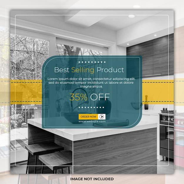 Elegance meubelen sociale media plaatsen bannermalplaatjes Premium Psd
