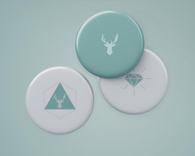 Elegant badgesmockup voor merchandising Gratis Psd