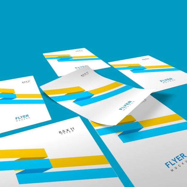 Elegant en eenvoudig flyermodel Premium Psd