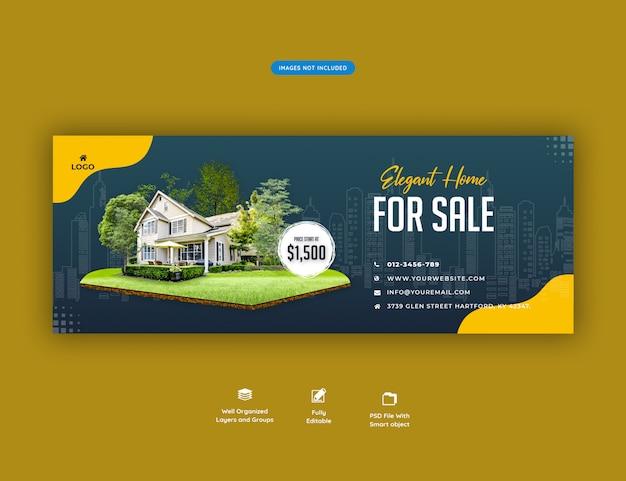 Elegant huis te koop banner Premium Psd