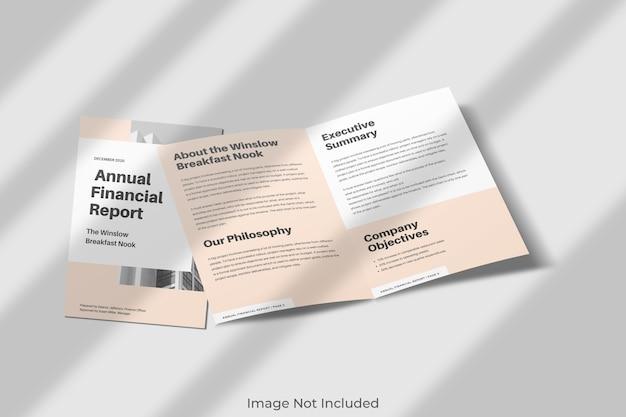 Elegant tweevoudig brochuremodel met schaduw Premium Psd
