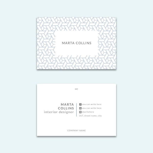 Elegant visitekaartjesmodel Gratis Psd