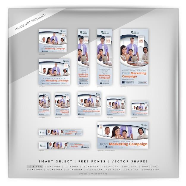 Elegante business marketing google e facebook ads Psd Premium