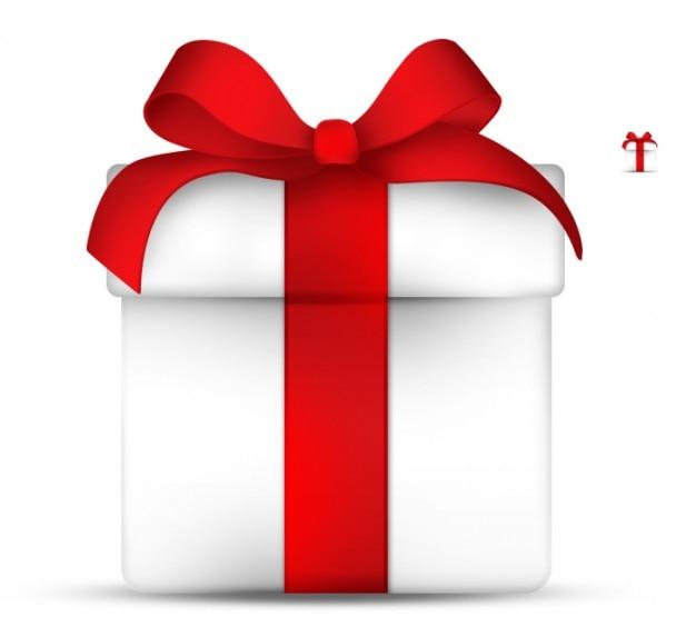 Elegante caja de regalo con cinta roja descargar psd gratis for In regalo gratis