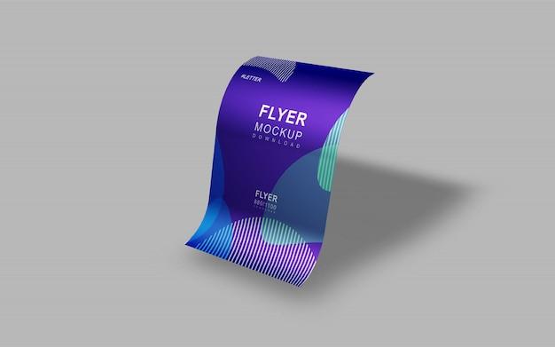 Elegante en mooie eenvoudige flyer presentatie mockup Premium Psd