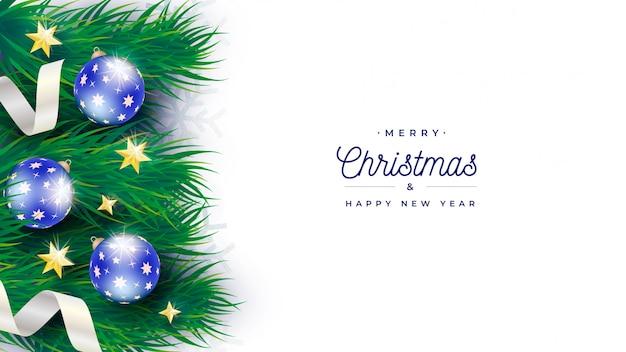 Elegante plantilla de banner de árbol de navidad PSD gratuito