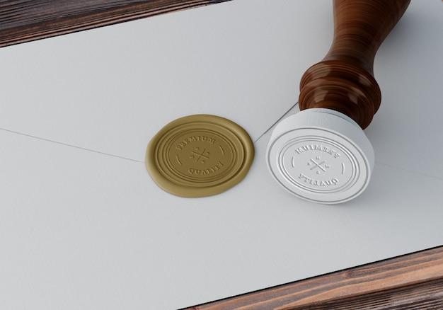 Elegante stempel of badge-mockup Gratis Psd