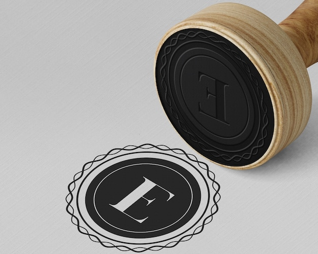 Elegante stempel of badge-mockup Gratis Psd