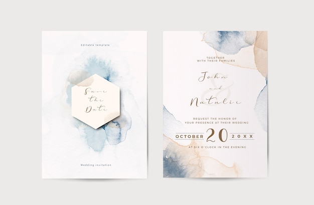 Elegante verloving bruiloft uitnodiging sjabloon Gratis Psd