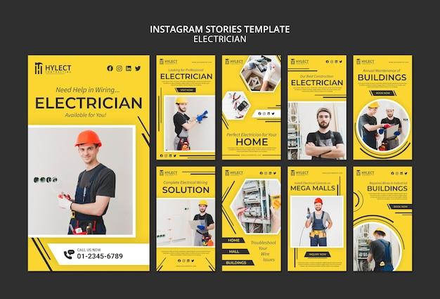 Elektricien instagram-verhalen Gratis Psd
